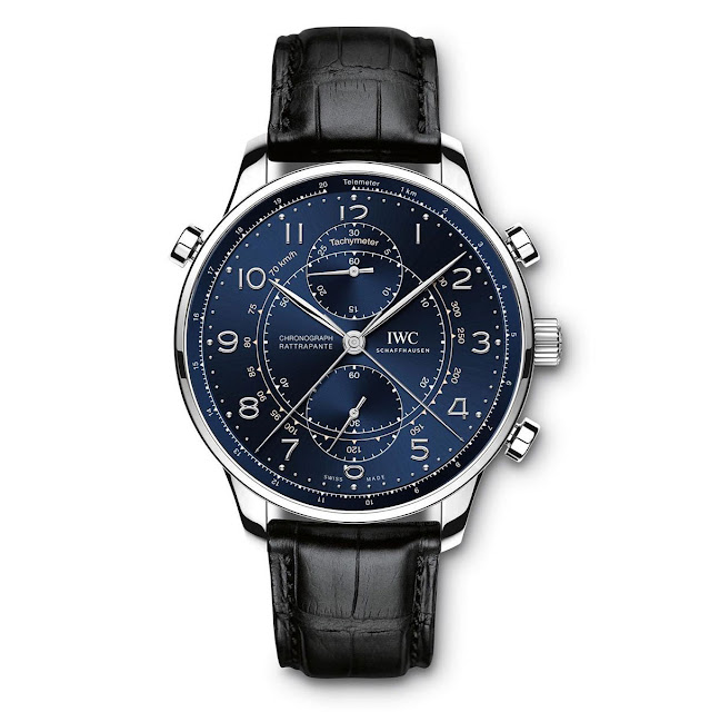 IWC - Portugieser Chronograph Rattrapante in platinum, unique piece for Laureus Charity