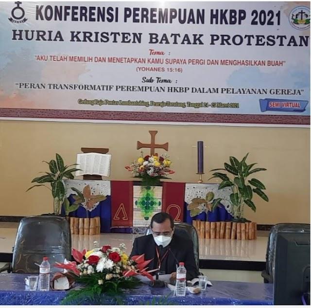 Eporus Buka Konfrensi Perempuan HKBP 2021