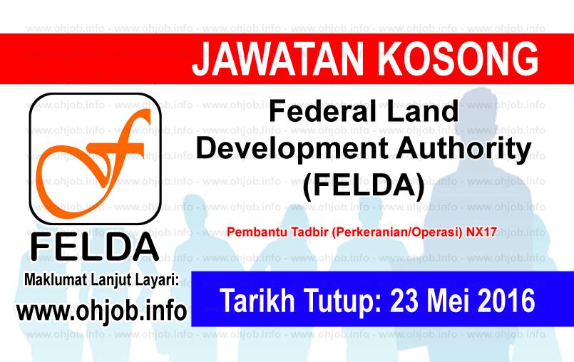 Jawatan Kerja Kosong Federal Land Development Authority (FELDA) logo www.ohjob.info mei 2016