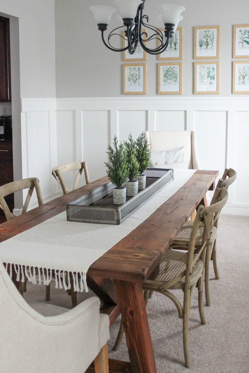 Delightfully Farmhouse Flavored Home Tour - Farmhouse DIY Dining Room Table