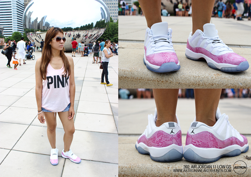 lowest price 5110b 72f11 Astron Sneaker Hunts: 392. Air Jordan 11 Low GS - Pink Snakeskin