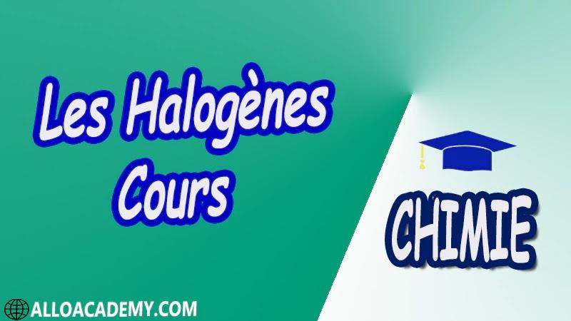 Les Halogènes ( Chimie Minérale ) - Cours pdf