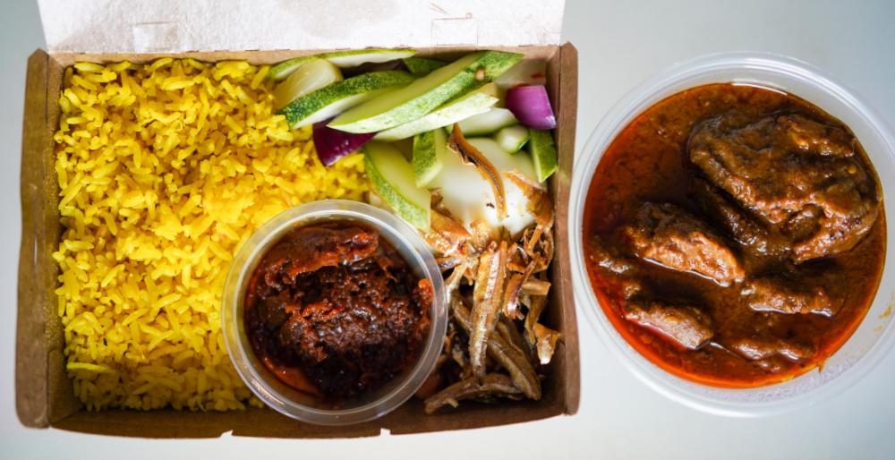 ante: nasi lemak with pork cheek curry