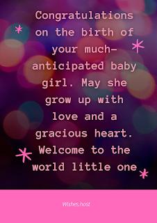 newborn baby girl wishes
