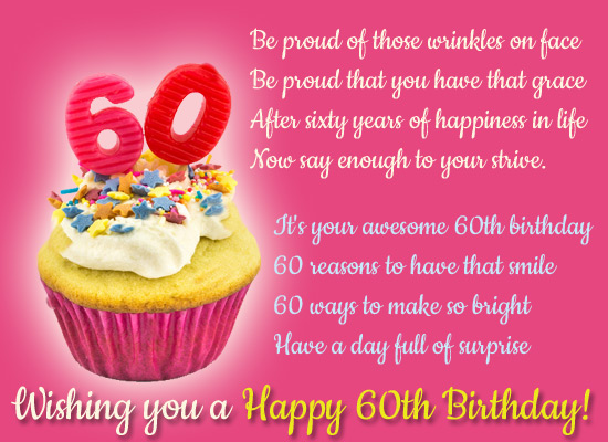 Happy 60th Birthday Wishes for Mom