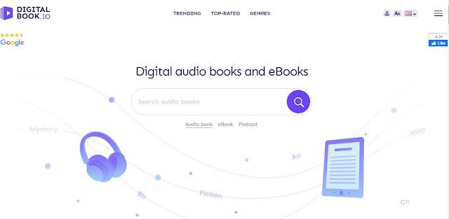 Digitalbook.io akses podcast, audiobook, dan ebook