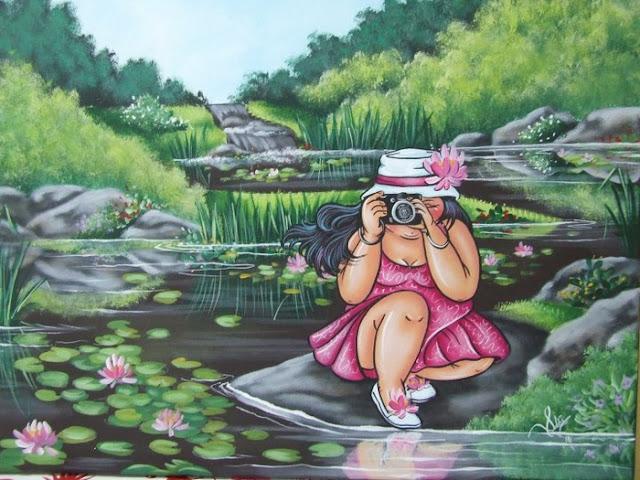 прикольные картины с толстушками, девушки боди-позитив,