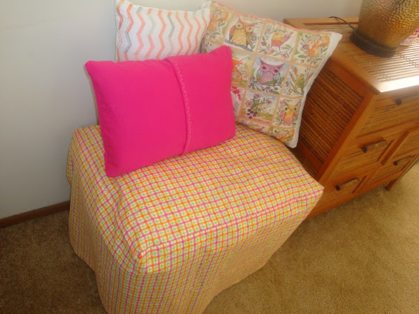 Easy DIY Storage Seating - Convert a Plastic Tote into a Pretty Seating Area