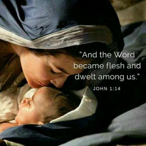 and the Word became flesh and dwelt among us. John 1:14 #Christmasscripture