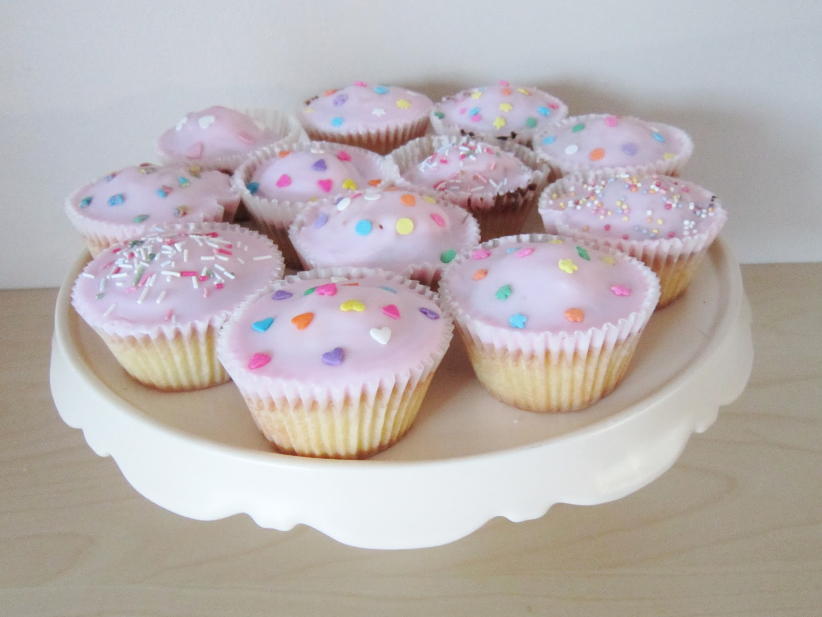 Iced Pink Fairy Cakes With Wilton