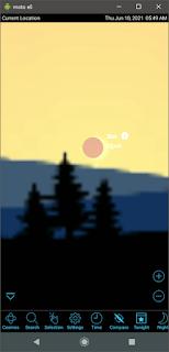 Moon and Sun in SkySafari