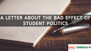 A letter about the bad effect of student politics