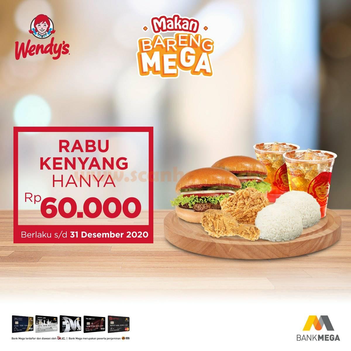 Promo Wendy S Rabu Kenyang Hanya Rp 60 000 Bayar Dengan Kartu Kredit Bank Mega Scanharga