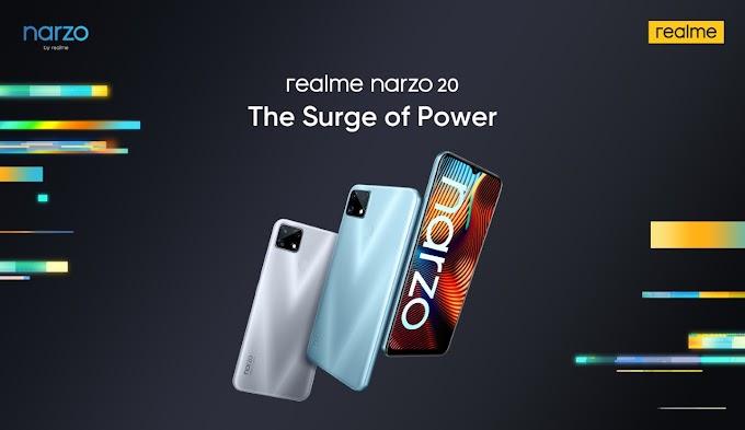 Realme Narzo 20 এলো বাজারে