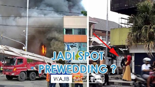 Usai Kebakaran, Mall Kudus Jadi Spot Prewedding Langsung di Kritik dan Hujat Netizen