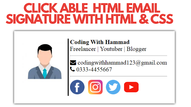 Html Email Signature With Html and CSS