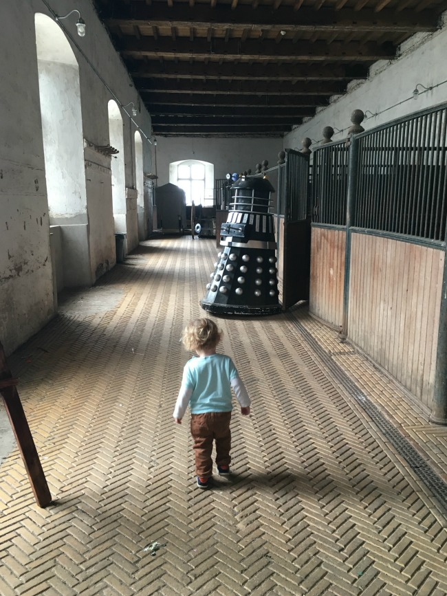a-dalek-a-pokemon-a-pier-toddler-walking-towards-a-dalek-at-Tredegar-house-stables