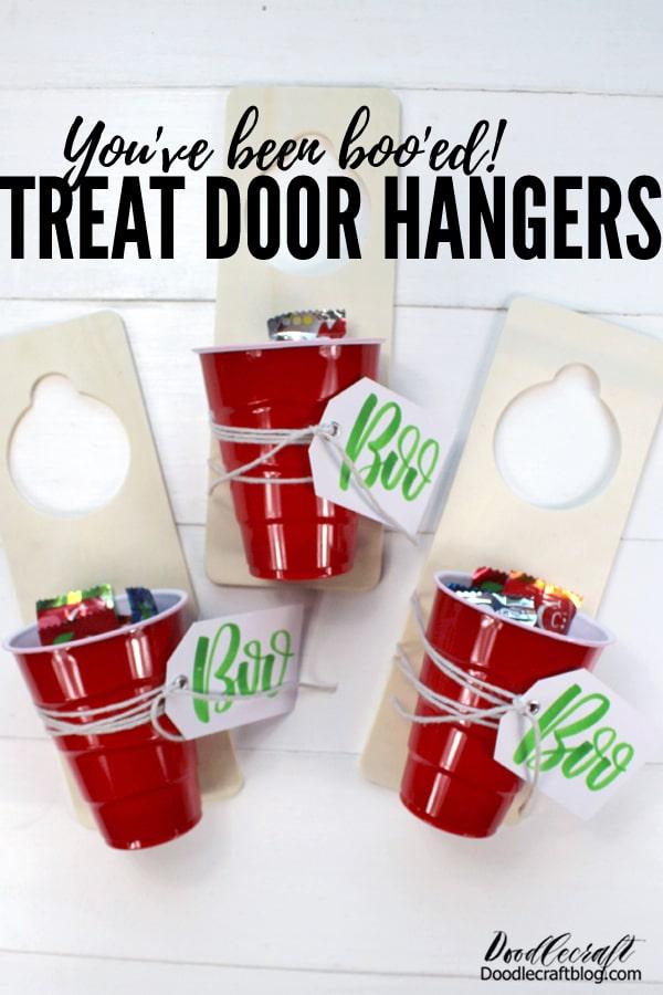 You've been boo'ed! Trick-or-Treat Halloween door hanging candy gift diy