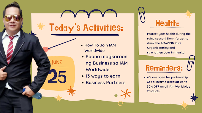 How To Join IAM Worldwide o Patok na Negosyo Kahit Nasa Bahay