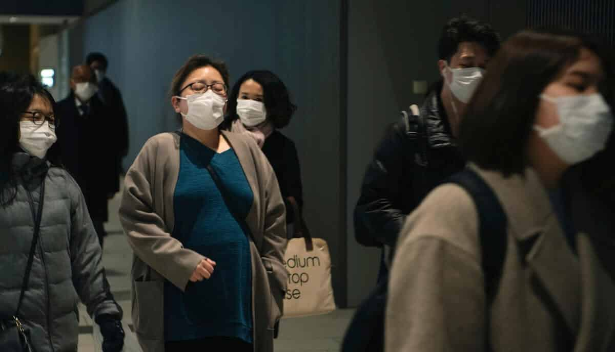 Passengers wearing masks in hopes of preventing the spread of the Coronavirus (COVID-19)