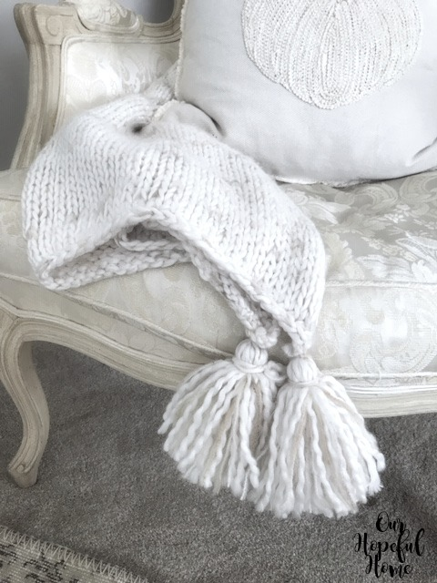 knit throw tassels chair living room decor