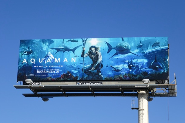 Aquaman movie billboards