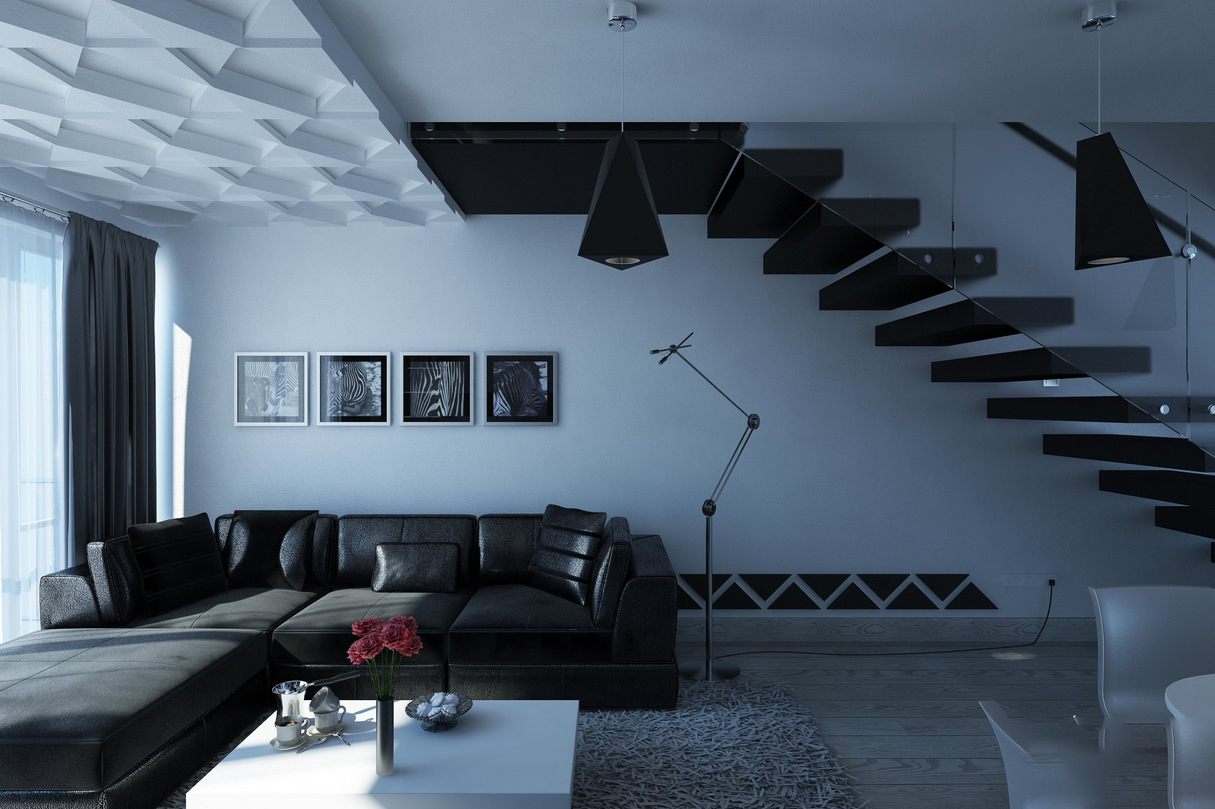 Romslig moderne stue interiør - interiør inspirasjon