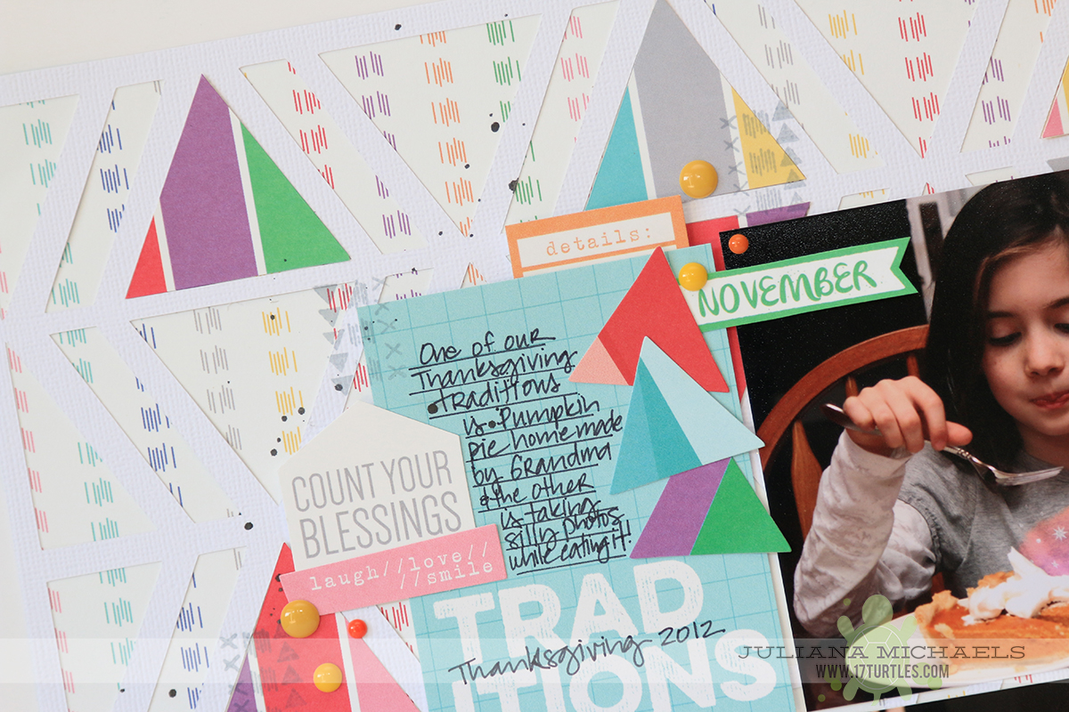Thanksgiving Traditions Scrapbook Page by Juliana Michaels for Elle's Studio
