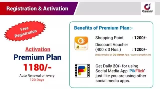 Osmose Technology Activation premium plan