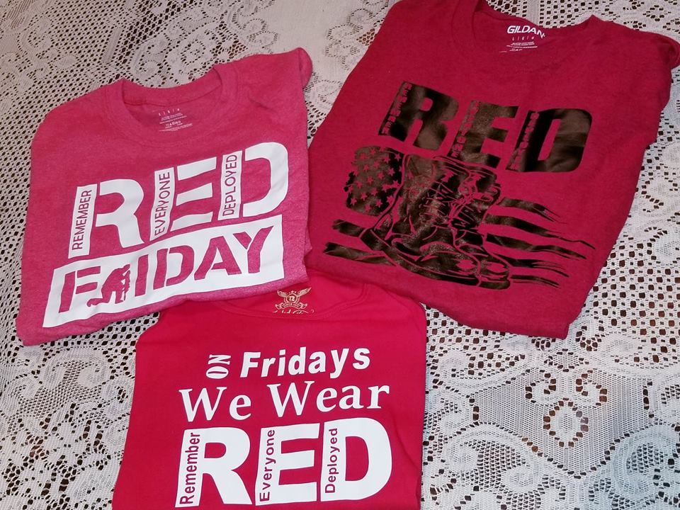 Fields Of Heather On Fridays We Wear Red T Shirt