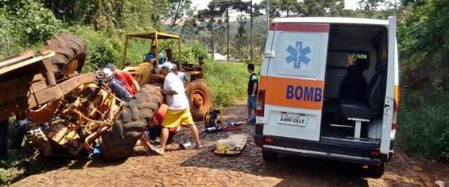Manoel Ribas: Jovem sofre acidente com trator