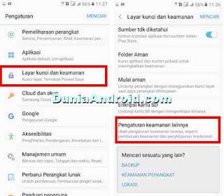menu pengaturan administrator perangkat android