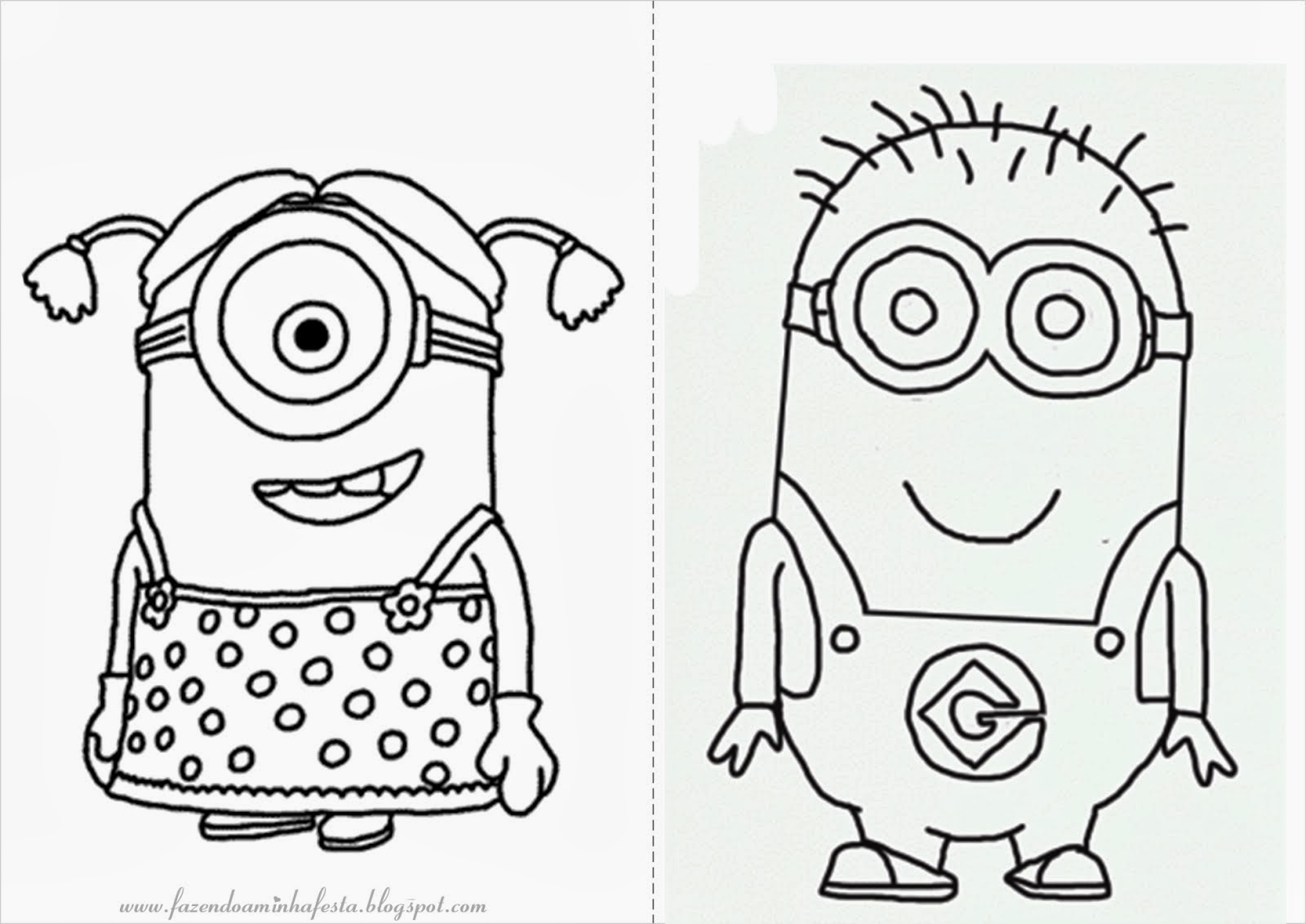 Colorindo E Desenhando: Minions E Personagens Do Meu