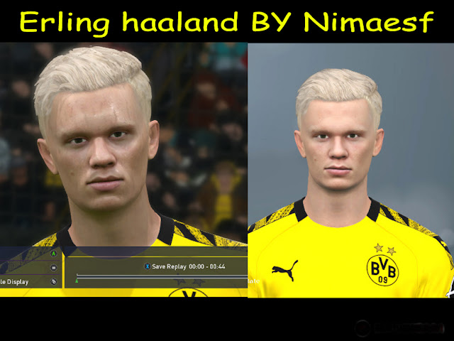 Haaland Face For PES17 By Nimaesf