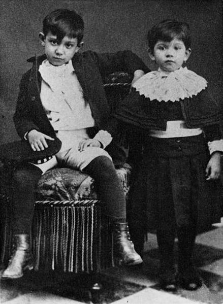 Picasso with his sister Lola