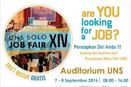 Jadwal dan Daftar Perusahaan Job Fair UNS Solo XIV September 2016