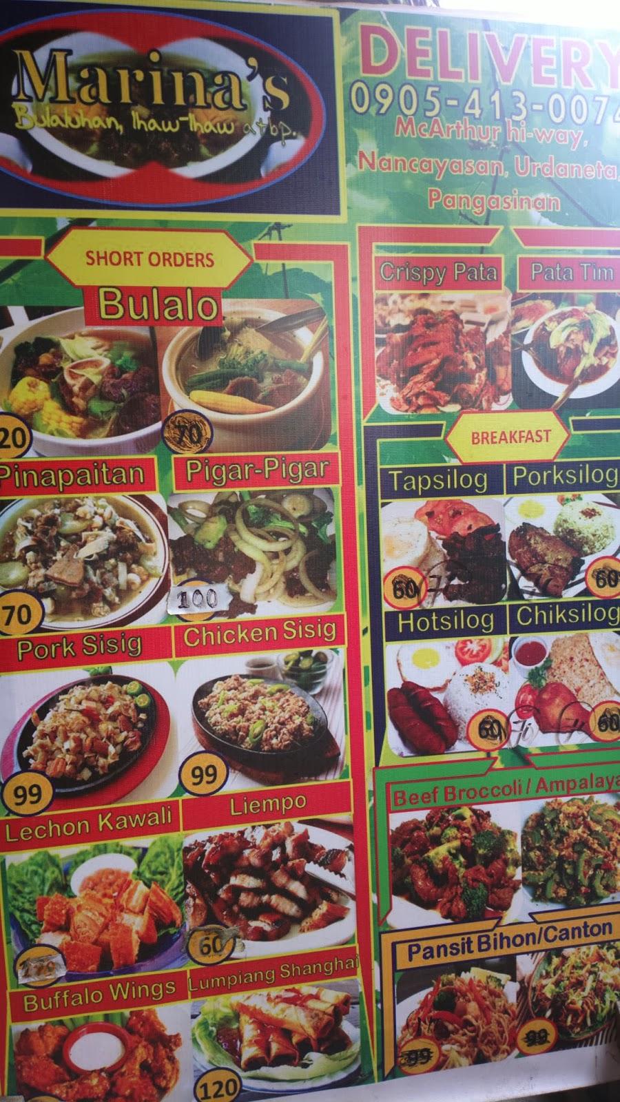 Marina's Bulalohan Ihaw-ihaw Atbp. in Urdaneta City