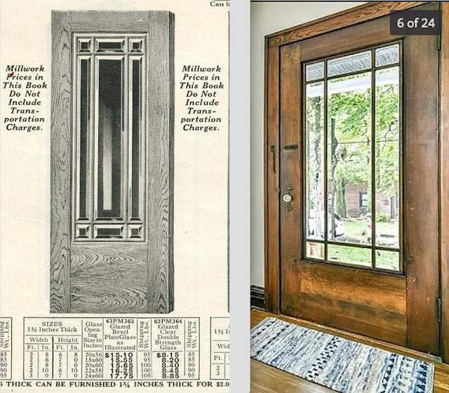 Entry door of Sears Gladstone at 1026 Homer Avenue Ross Twp, PA, floorplan-B