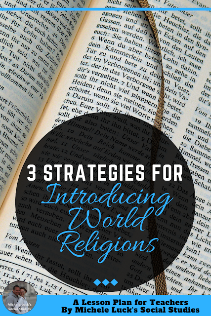 "Especially with today's political climate, teaching religion in the classroom may seem controversial or dangerous. However, no matter how ""hot"" the topic, World Religions are an integral part of teaching World History to your middle school and high school students. Foregoing thorough instruction of World Religions would be detrimental to your students. Therefore, teaching World Religions is best done from a strategic approach. Employing compare and contrast techniques will help your students to grasp an intellectual understanding from the beginning."