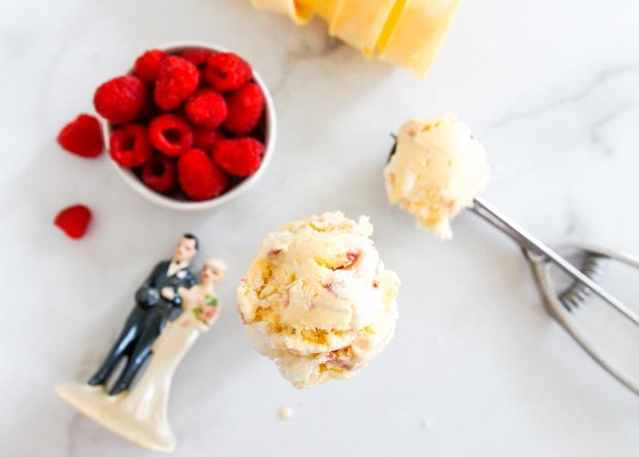 how to make Bride's Cake Ice Cream