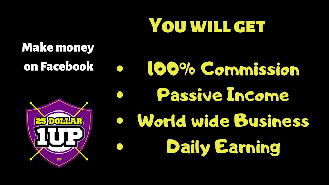 What is  25 dollar 1 up platform? Get 100% Commission.