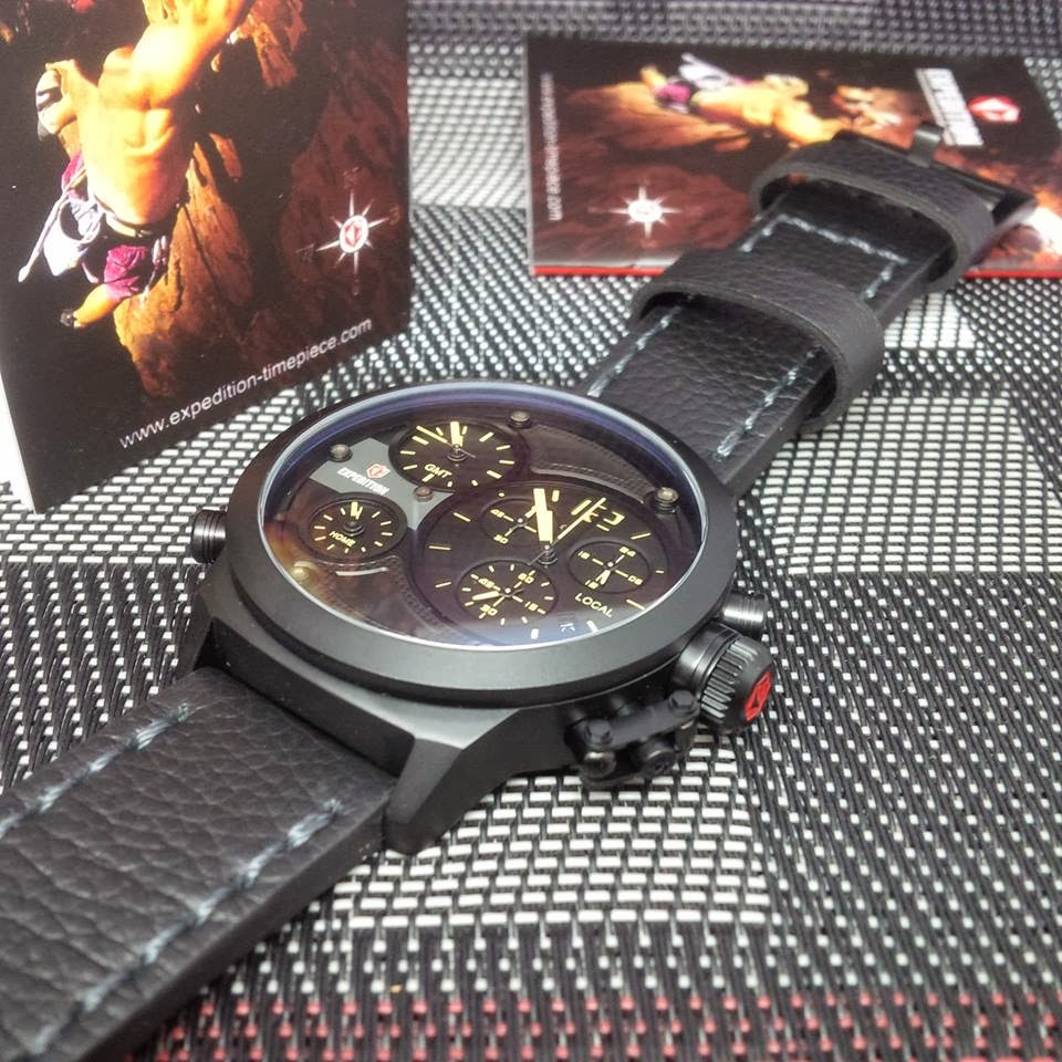Master Jam Tangan Maret 2013 Toko Online Expedition E6392 Black Leather Brown Full Cream