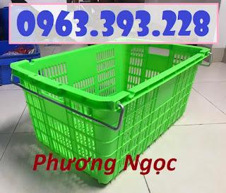 Sọt nhựa công nghiệp, sọt thanh long, sọt nhựa rỗng HS011 có quai sắt Ae3a32357b64803ad975