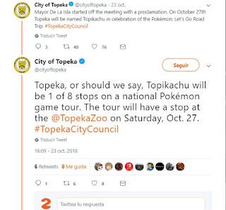 La capital de Kansas se llamará Topikachu