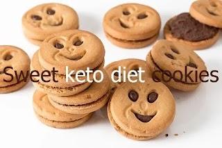 Sweet keto diet cookies