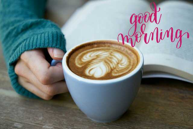 Beautiful Good Morrning image with coffee cup