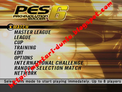 master game pes 6
