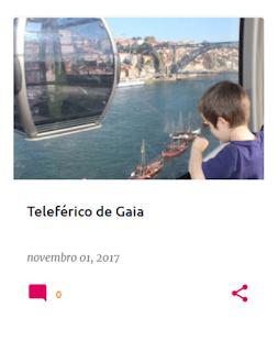 Criança a olhar pela janela do teleférico