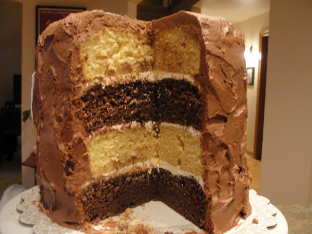 Layered Vanilla Cake Recipes: Filling Up My Cup: A Chocolate Vanilla Layer Cake From Heaven