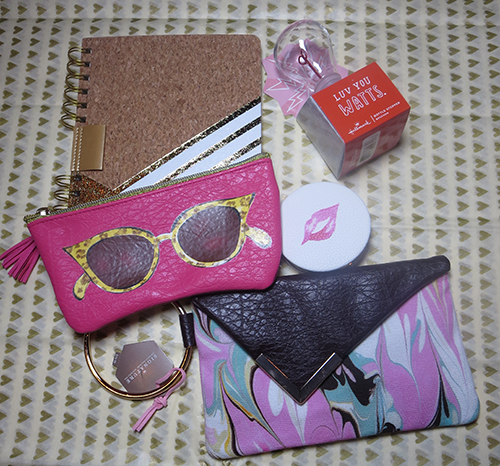 Pink Eyeglasses Case and/or the Marbled Wristlet Purse you have to pair it up with Hallmark Lips Mirror Compact.